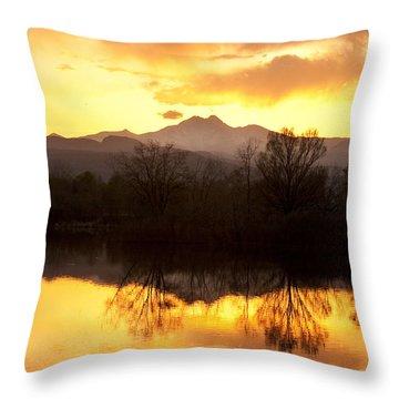 Golden Ponds Longmont Colorado Throw Pillow