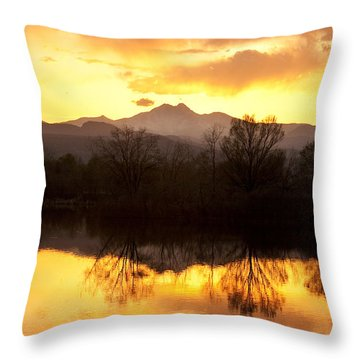 Golden Ponds Longmont Colorado Throw Pillow