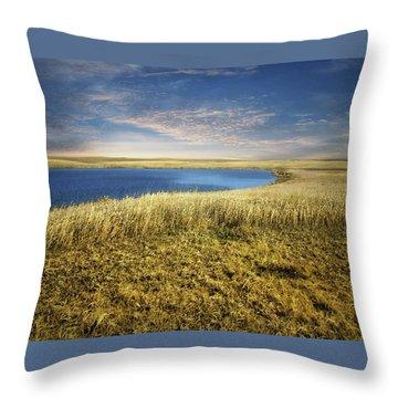 Golden Prairie Throw Pillow