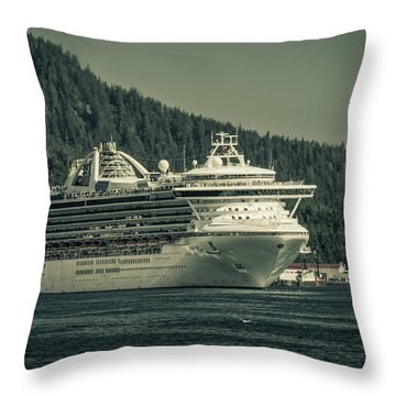 Throw Pillow featuring the photograph Golden Princess  by Timothy Latta