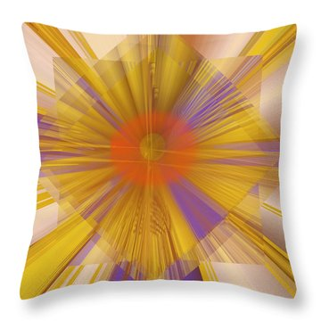 Golden Rays Throw Pillow
