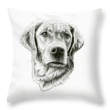 Golden Retriever Bliss Throw Pillow