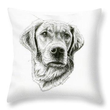 Golden Retriever Bliss Throw Pillow