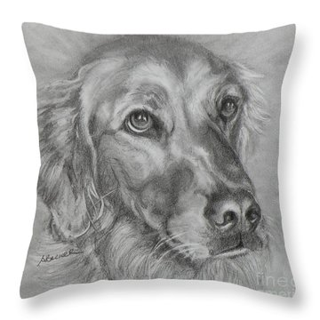 Golden Retriever Drawing Throw Pillow