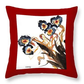 Golden Rods Dancing Throw Pillow