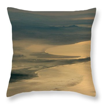 Golden San Diego From The Air In The Poetry Of Being High Up In The Air Throw Pillow by Wernher Krutein