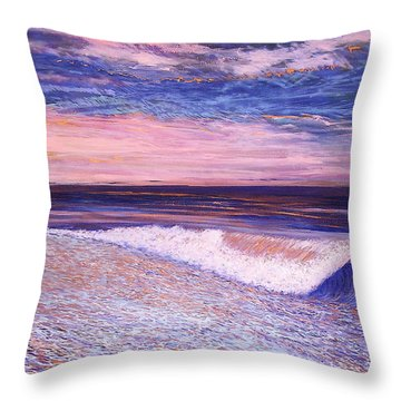 Golden Sea Throw Pillow