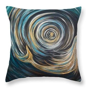 Golden Sirena Mermaid Spiral Throw Pillow