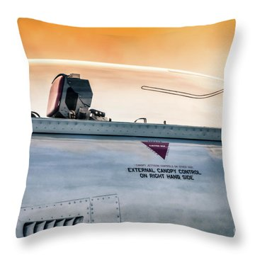 Golden Sky Throw Pillow by Lawrence Burry