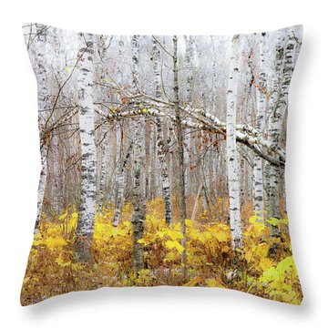 Golden Slumbers Throw Pillow