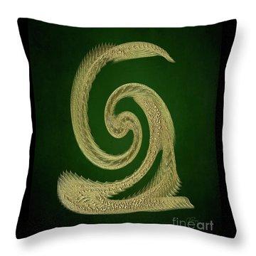 Golden Snake Abstract Throw Pillow