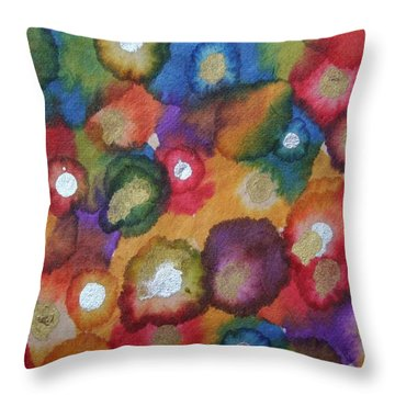 Golden Spring Throw Pillow