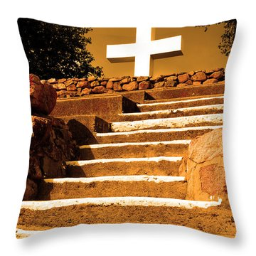 Throw Pillow featuring the photograph Golden Stairway by Howard Bagley