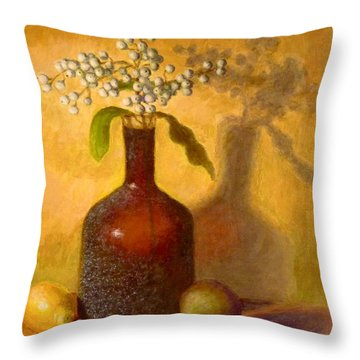 Golden Still Life Throw Pillow