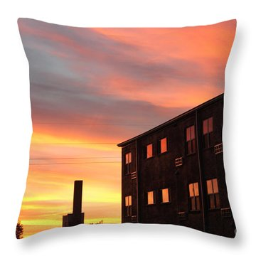 Golden Sunrise Throw Pillow