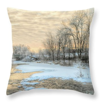 Golden Sunrise Signed Throw Pillow