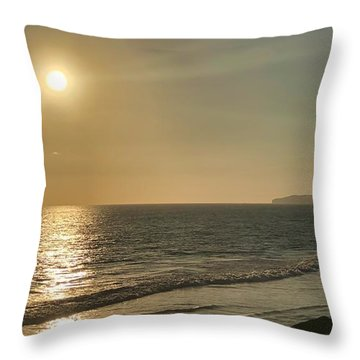 Throw Pillow featuring the photograph Golden Sunset by Brian Eberly