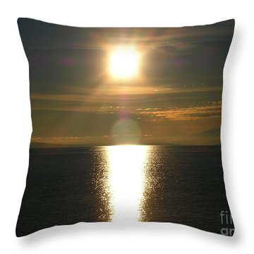 Throw Pillow featuring the photograph Golden Sunset by Kim Prowse
