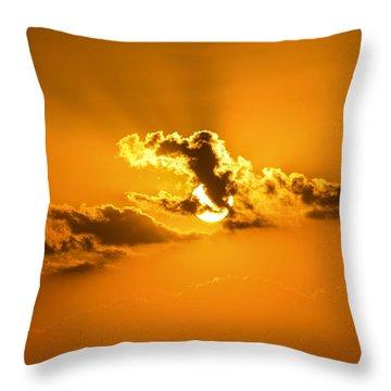Golden Sunset Throw Pillow by Nance Larson