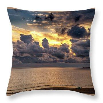 Golden Surf - Point Dume, California Throw Pillow