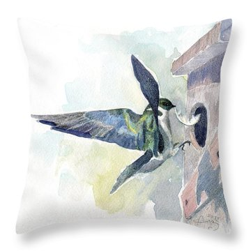 Golden Swallow Throw Pillow