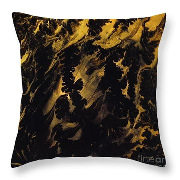 Golden Swirls Throw Pillow