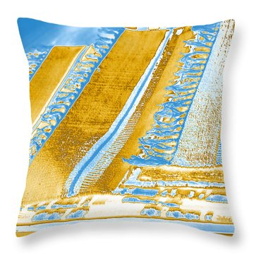 Golden Tapestry Throw Pillow by Margie Avellino