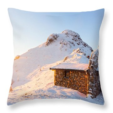 Golden Temple Throw Pillow by Evgeni Dinev
