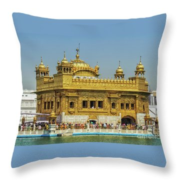 Golden Temple Punjab India With Clear Sky 2 Throw Pillow
