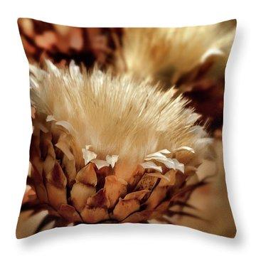 Throw Pillow featuring the digital art Golden Thistle II by Bill Gallagher