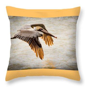 Golden Tips Throw Pillow