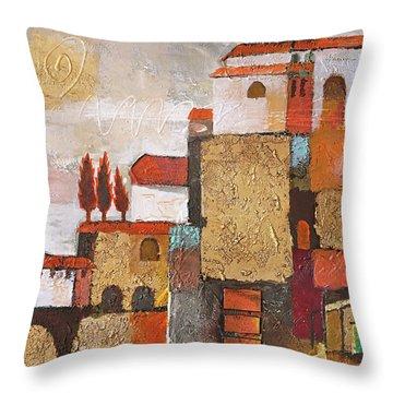 Golden Town Throw Pillow