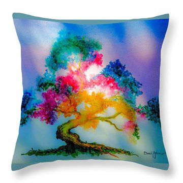Da183 Golden Tree Daniel Adams Throw Pillow