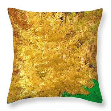 Throw Pillow featuring the photograph Golden Tree by Donna Bentley