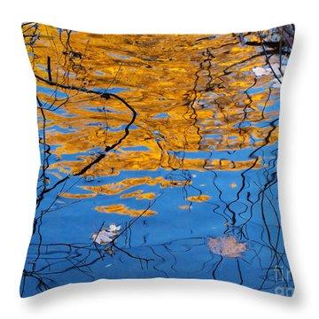 Golden Tree Throw Pillow