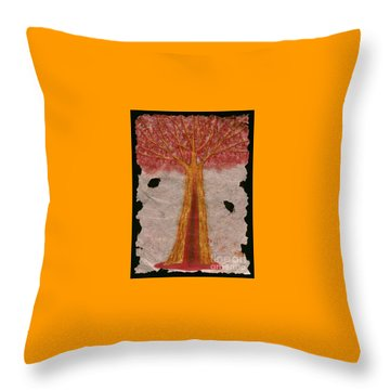 Golden Trees Crying Tears Of Blood Throw Pillow