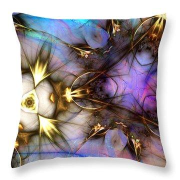 Golden Trinkets Throw Pillow