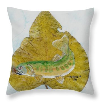 Golden Trout Throw Pillow