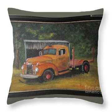 Golden Truck  Throw Pillow