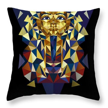 Golden Tutankhamun Throw Pillow