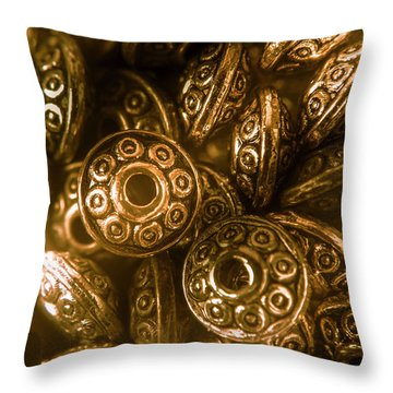 Golden Ufos From Egyptology  Throw Pillow
