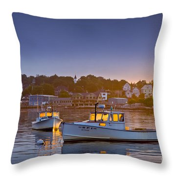 Golden Windows Throw Pillow