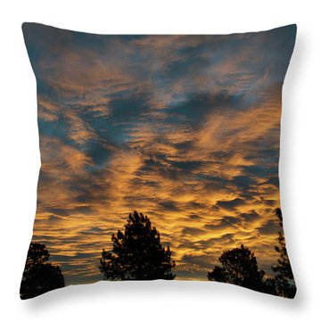Golden Winter Morning Throw Pillow