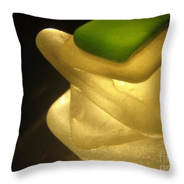 Golden Zen Throw Pillow
