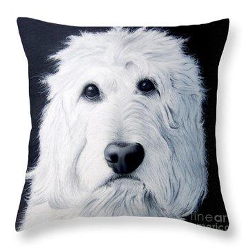Goldendoodle Portrait Throw Pillow
