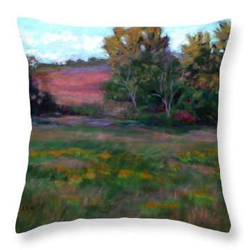 Goldenrod Afternoon Throw Pillow by Julie Mayser