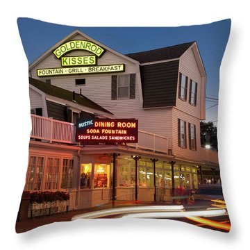 Goldenrod Kisses Luncheonette York Beach Maine Throw Pillow