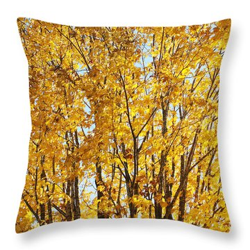 Goldenyellows Throw Pillow by Aimelle
