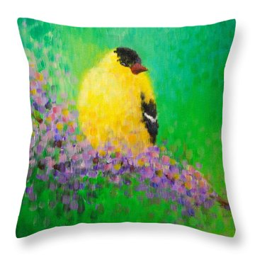 Goldfinch II Throw Pillow