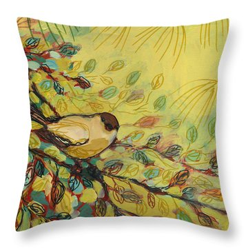 Goldfinch Waiting Throw Pillow